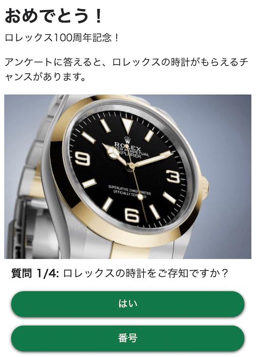 【ロレックス100周年記念】画像2